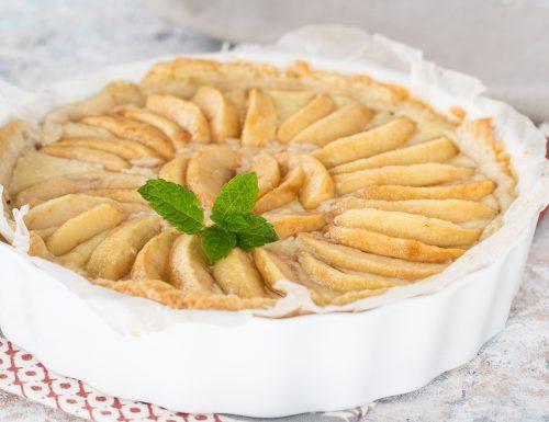 Crostata di mele e crema della nonna