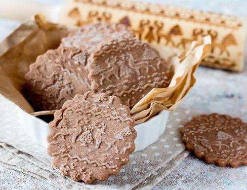 Biscotti con mattarello decorativo