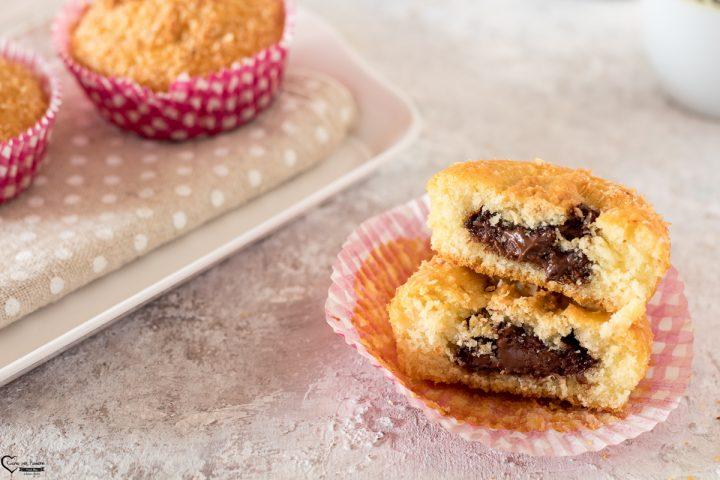 Muffin con cuore di cioccolato
