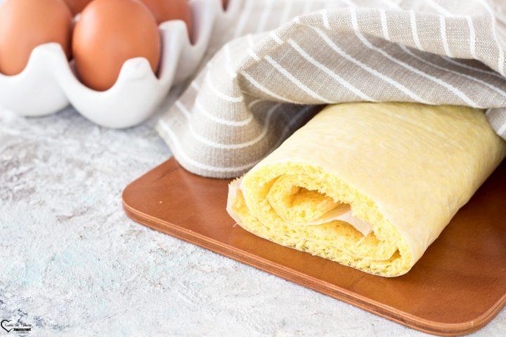Pasta biscotto per dolci da arrotolare