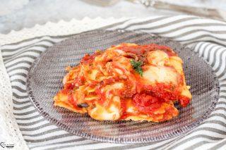 Lasagna al pomodoro e mozzarella