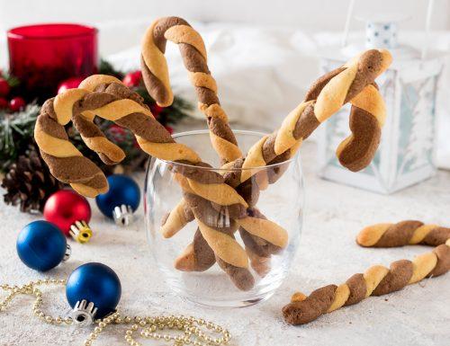 BASTONCINI DI NATALE di frolla Candy canes cookies