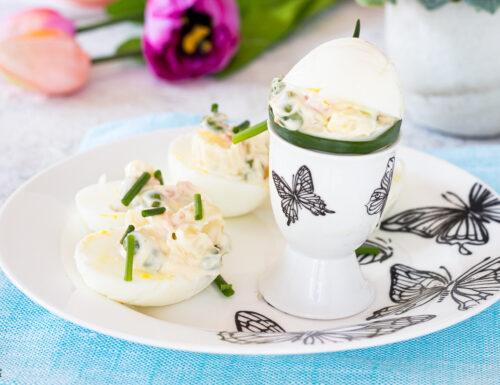 UOVA SODE RIPIENE VEGETARIANE con insalata russa