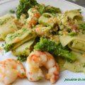 calamarata con broccoli e mazzancolle, ricette primi piatti semplici e veloci, ricette con broccoli, pasta con broccoli, come cucinare le mazzancolle