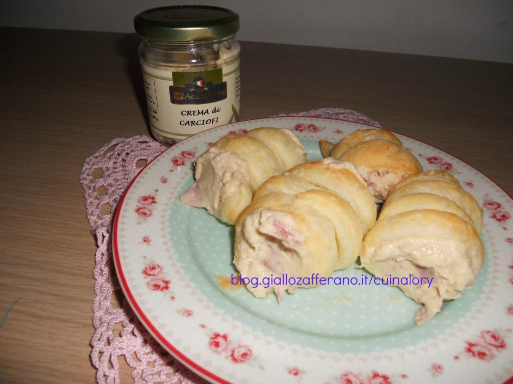 cannoli con crema di carciofi
