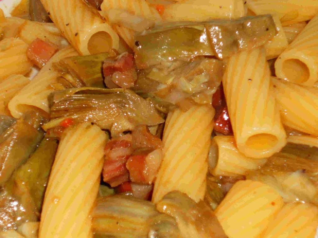 pasta carciofi e pancetta- blog.giallozafferano.it/cuinalory