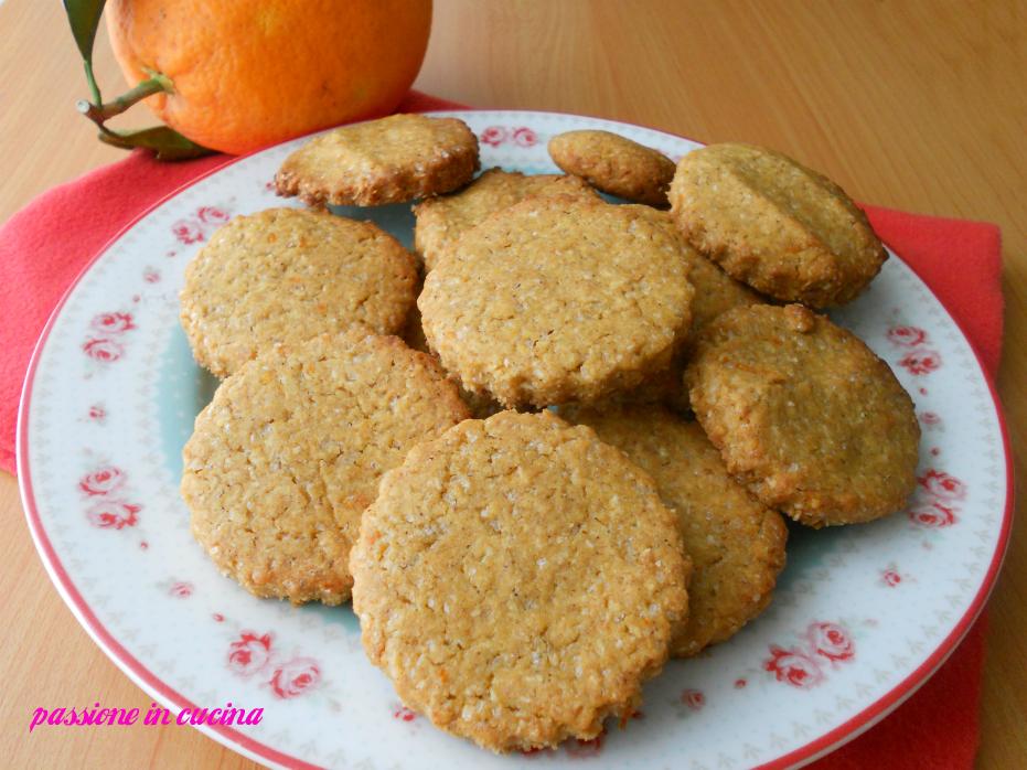 biscotti con farina di ceci ricette con farina di ceci, cocco, arancia