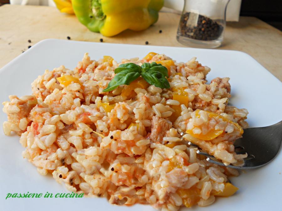 riso peperoni e tonno- ricette con riso, ricette con peperoni, ricette con tonno, primi piatti