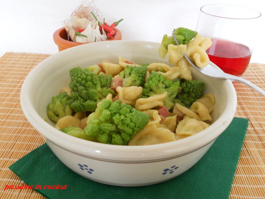 orecchiette broccolo romano e pancetta