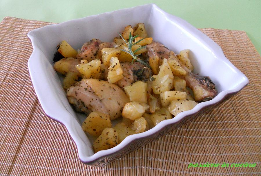 pollo al forno con le patate passioneincucina.giallozafferano.it