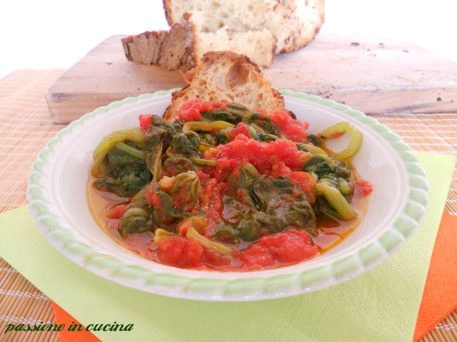 bietola al pomodoro- ricetta vegetariana