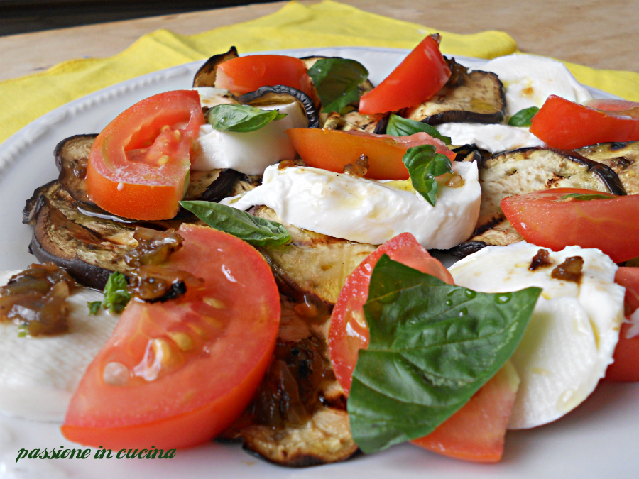 caprese-ricetta vegetariana- melanzane