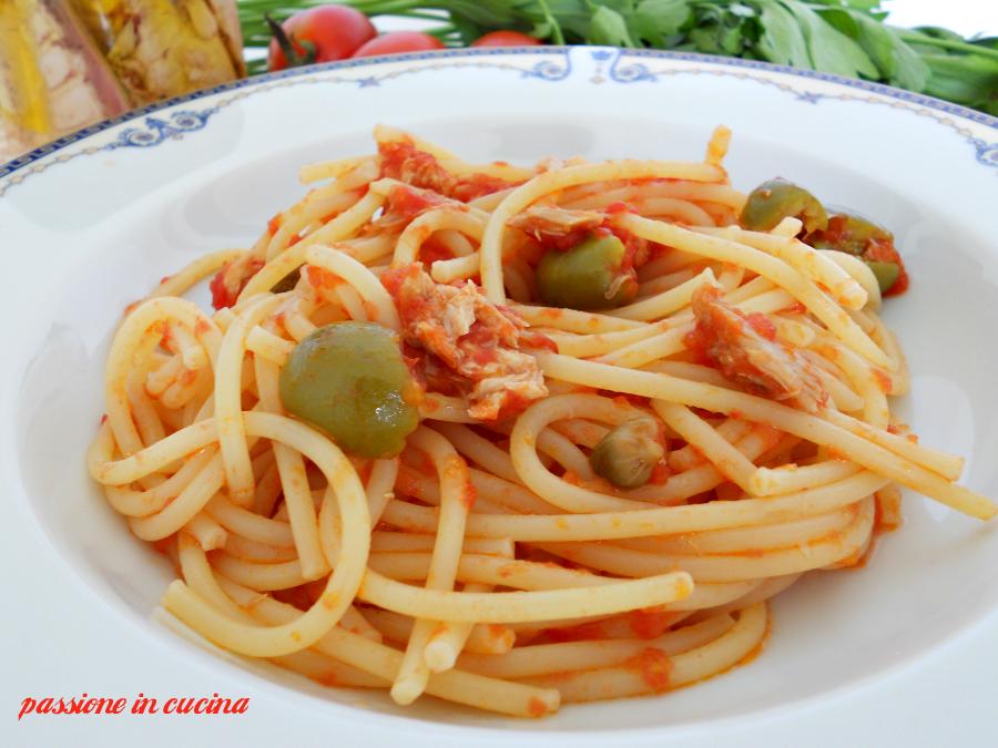 spaghetti al tonno-primi piatti, ricette veloci