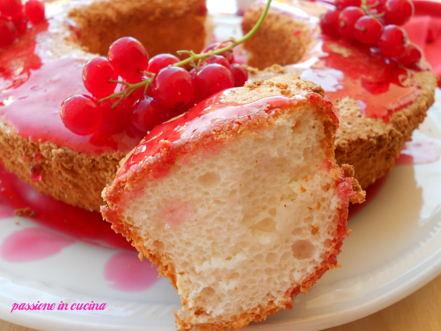 angel cake, ricetta dolci con albumi