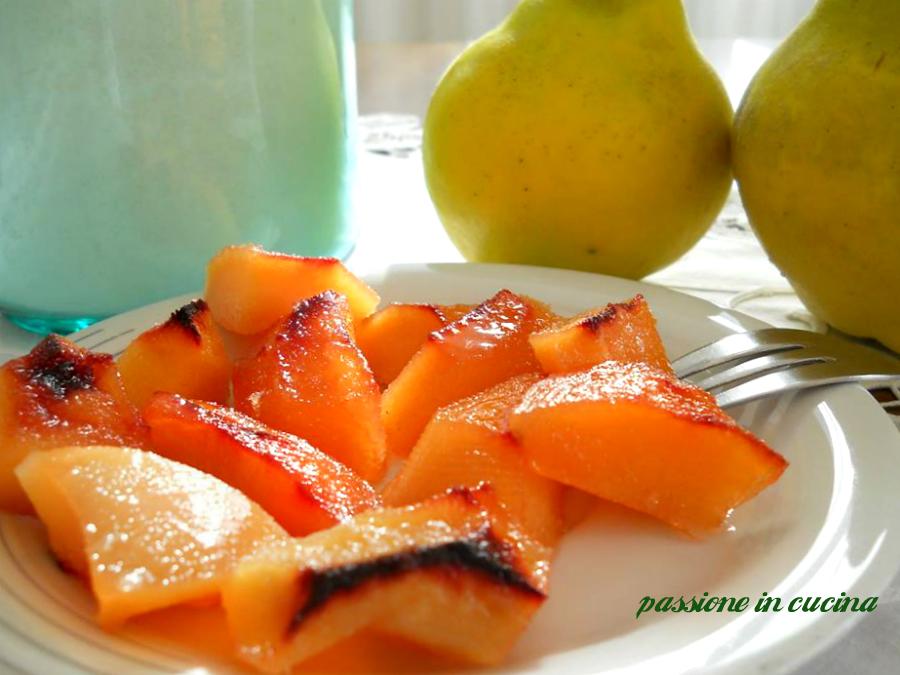 mele cotogne al forno-ricette con le mele cotogne