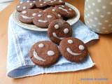biscotti faccine al cioccolato simil balocco, biscotti al cioccolato