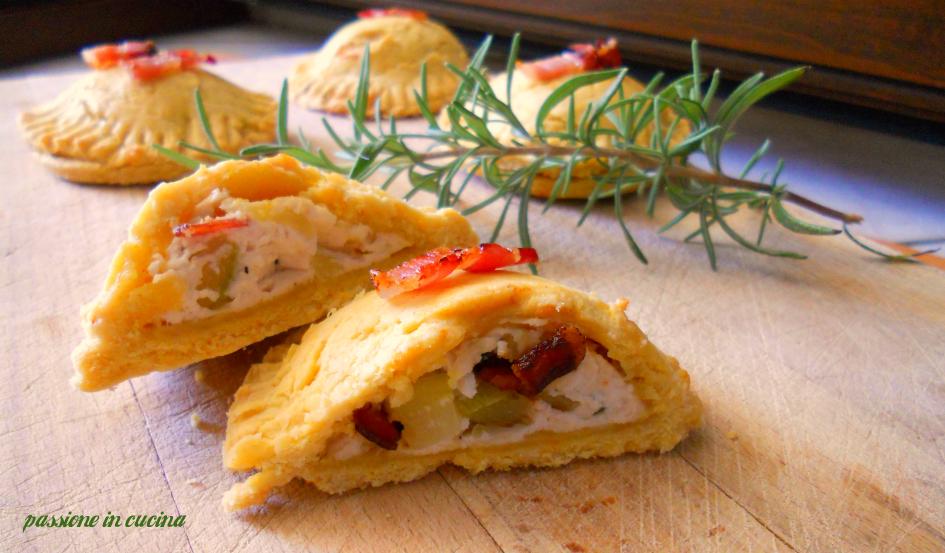 pasta frolla salata, ricette con la ricotta, ricette con le zucchine, zafferano, pancetta affumicata