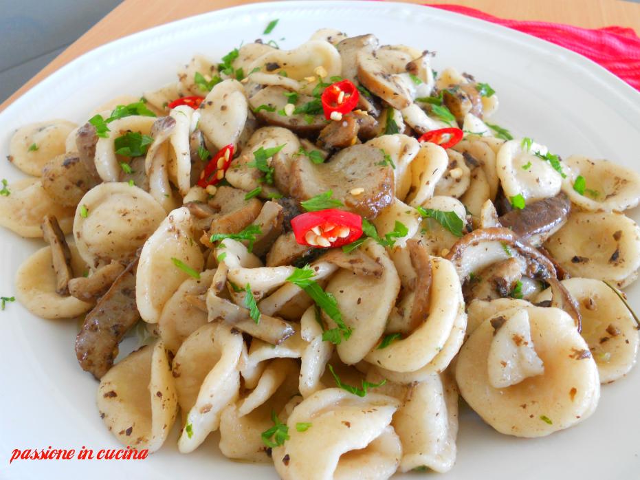 orecchiette con tartufo e funghi, pasta con tartufo e funghi, strangozzi con tartufo e funghi, pasta alla norcina, tipico piatto umbro, ricette con i funghi, ricette con i porcini, ricette con il tartufo