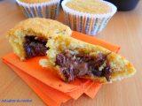 muffin alla zucca ripieni di nutella, ricette con la zucca, ricette con la nutella, dolci con la zucca