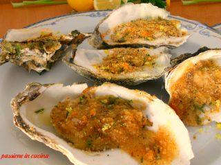 ostriche gratinate, ricette con le ostriche, ostriche, passioneincucina.giallozafferano.it