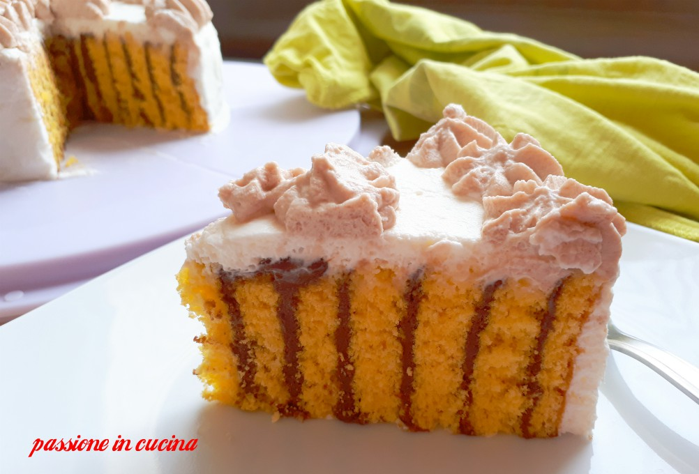 spiral cake, torta a spirale, girella, torta girella grande, torta alla nutella