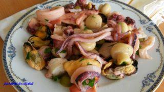 insalata di mare, insalata mare e monti, antipasti estivi, antipasti di pesce, secondi piatti d pesce