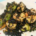 riso venere con zucchine, gamberoni e peperoni, ricette con il riso venere, riso nero ricette, gamberoni ricette, friggitelli
