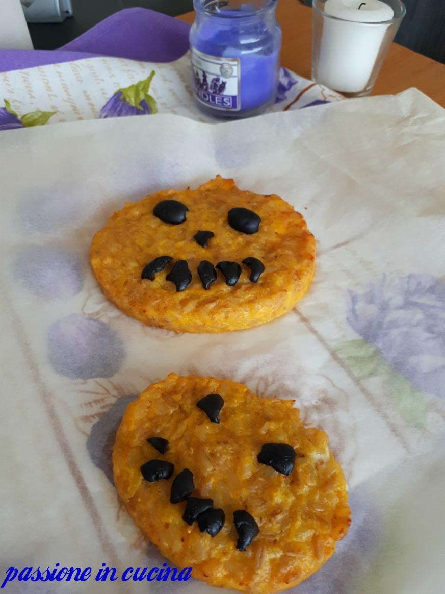 zucche di halloween, risotto alla zucca, ricette per halloween, ricette per bambini