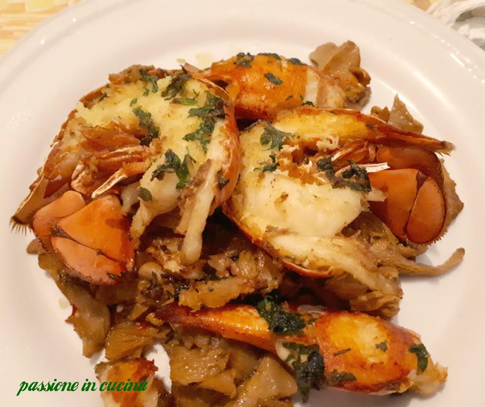 astice al forno, astice con funghi, ricette con astice, ricette per natale, ricette per pasqua, secondi piatti di pesce, ricette per le feste