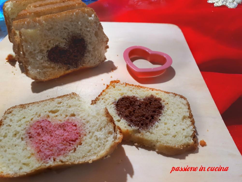 plumcake con cuore a sorpresa, ricette per san valentino, san valentino dolci, dolci di san valentino