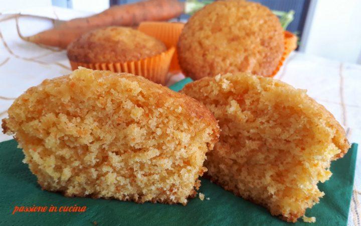 muffin di carote e cocco, dolci con le carote, dolci con il cocco