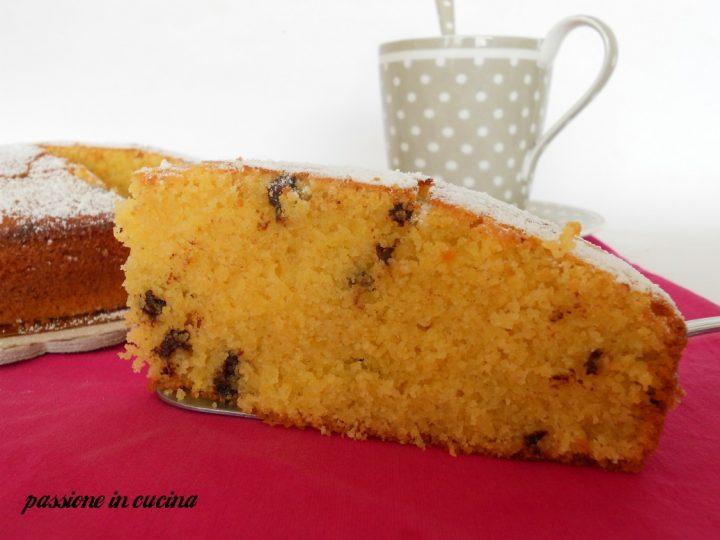 torta con farina di mais, torta con polenta, amor polenta, torta con gocce di cioccolato, come consumare la farina di mais, come consumare la polenta, dolci con la polenta