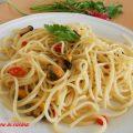spaghetti con le cozze, ricette con le cozze, ricette per il mare, ricette veloci