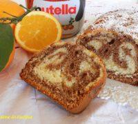 plumcake allo yogurt con arancia e nutella
