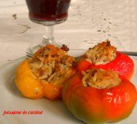 peperoni ripieni di riso, ricette con i peperoni, peperoni ripieni