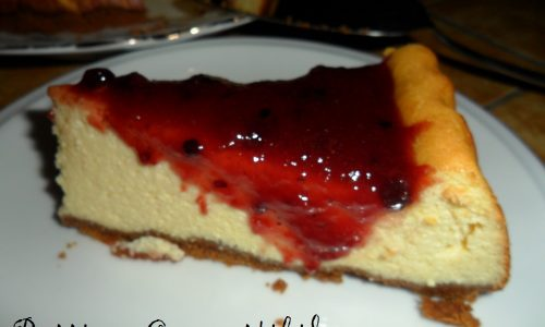 Ricottacake (Baked ricotta cheesecake) ai frutti rossi