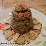 porzione di risotto zucchine e pollo