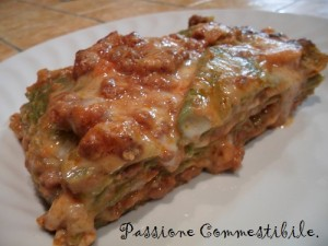 Lasagne verdi sg e sl al forno