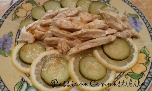 Straccetti di pollo al limone e zucchine