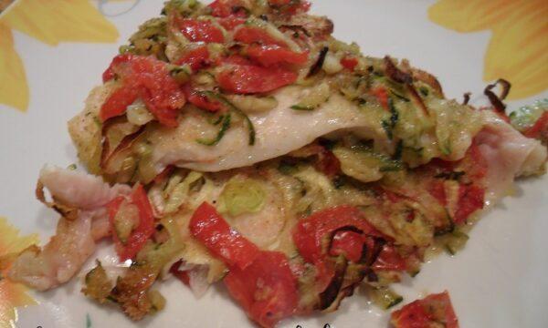 Platessa e verdure al forno