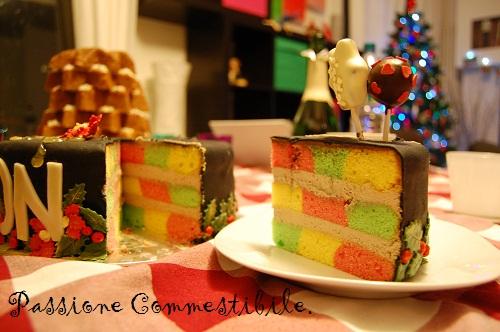 interno a scacchi della torta