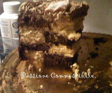 interno della torta dama