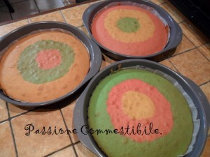 pan di spagna colorati cotti