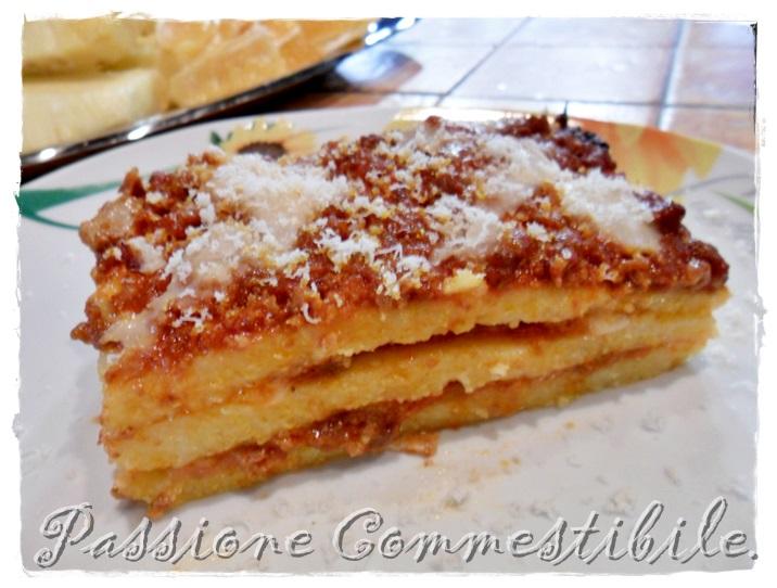 lasagne di polenta a fette
