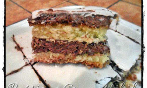Torta cocco e nutella senza glutine