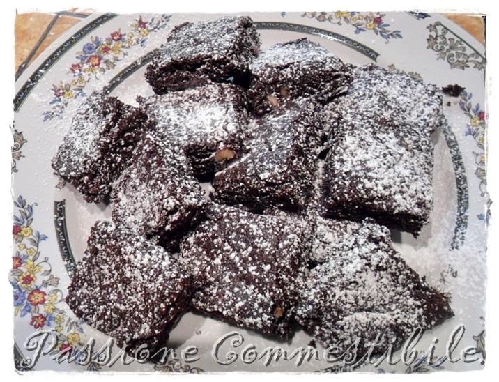 brownies nel piatto di portata