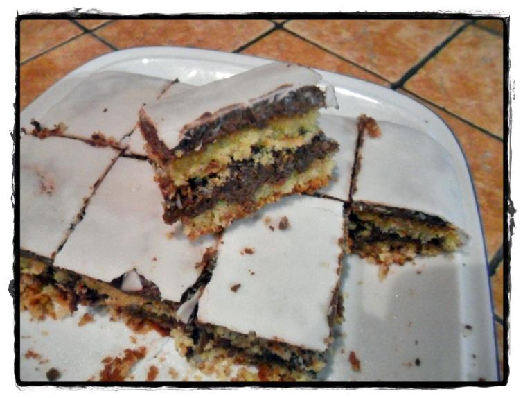 fettina di torta cocco e nutella senza glutine