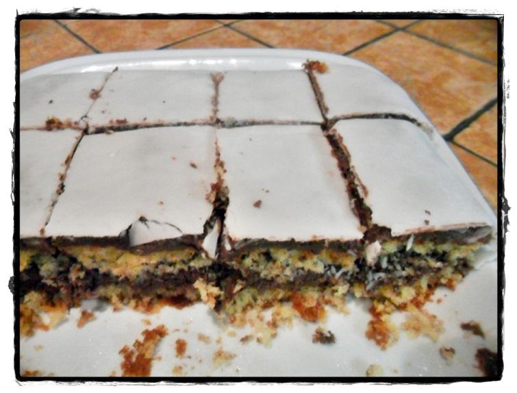 torta cocco e nutella a quadrotti