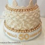 torta finita con scritta