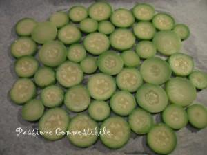zucchine stese nella teglia